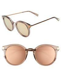 Le Specs - Last Dance 51mm Mirrored Round Sunglasses - - Lyst
