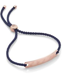 Monica Vinader - Engravable Havana Mini Friendship Bracelet - Lyst