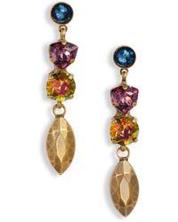 Sorrelli - Metal & Crystal Drop Earrings - Lyst