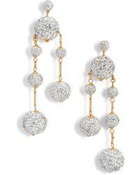 Kate Spade - Razzle Dazzle Asymmetrical Drop Earrings - Lyst