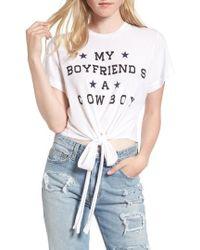 Wildfox - My Boyfriend Is A Cowboy Tee - Lyst