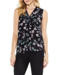 Vince Camuto - Floral Sleeveless Top - Lyst