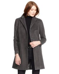 Lauren by Ralph Lauren - Reefer Wool-Blend Coat - Lyst