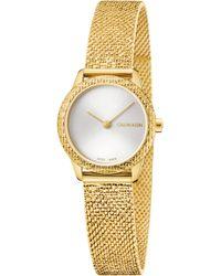 Calvin Klein - Minimal Mesh Bracelet Watch - Lyst