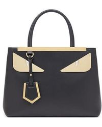 93139089a1 Fendi - 2jours Monster Eyes Leather Shopper - - Lyst