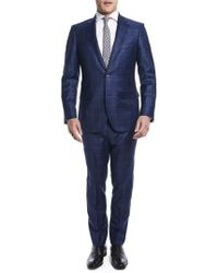 Strong Suit - By Ilaria Urbinati Kilgore Slim Fit Plaid Wool Suit (nordstrom Exclusive) - Lyst