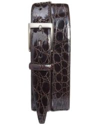 Torino Leather Company - Caiman Alligator Leather Belt - Lyst