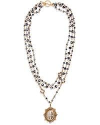 Virgins, Saints & Angels - San Benito Magdalena Rosary Necklace - Lyst