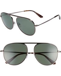 53355111dab5 Lyst - Tom Ford Ft0365 Leona Aviator Sunglasses