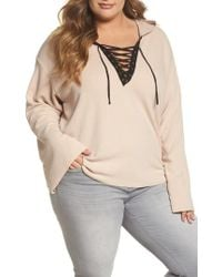 Glamorous - Lace-up Hoodie - Lyst