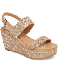 Tory Burch - Blake Embroidered Platform Wedge - Lyst