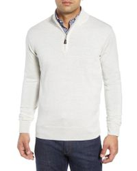 daf942068 Lyst - Peter Millar Crown Soft Regular Fit Wool Blend Quarter Zip ...