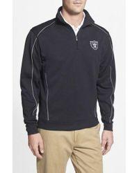 Cutter & Buck - Oakland Raiders - Edge Drytec Moisture Wicking Half Zip Pullover - Lyst