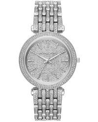 Michael Kors - Darci Crystal Bezel Braclet Watch - Lyst