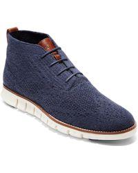 Cole Haan - Zerogrand Stitchlite Woven Wool Chukka Boot - Lyst