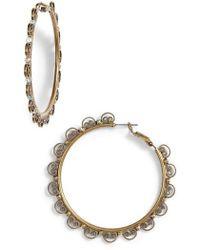 Sorrelli - Foxglove Crystal Hoop Earrings - Lyst
