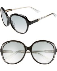 Gucci - 58mm Round Sunglasses - Lyst