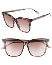 Bottega Veneta - 54mm Square Sunglasses - Avana - Lyst