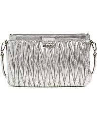 Miu Miu - Small Matelasse Leather Clutch - - Lyst