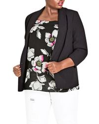 City Chic - Dapper Blazer - Lyst