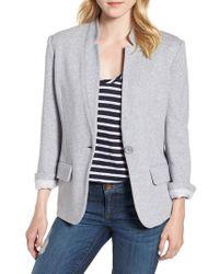 Olivia Moon - Cotton Blend Knit Blazer - Lyst