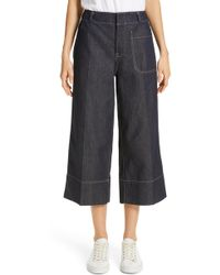 Sofie D'Hoore - Wide Leg Crop Jeans - Lyst