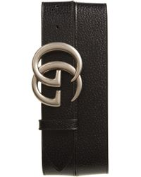 Gucci - Gg Pebbled Leather Belt - Lyst