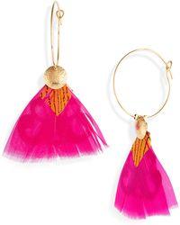 Gas Bijoux - Bermude Feather Hoop Earrings - Lyst