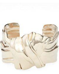 Saint Laurent - Draped Bow Bracelet - Lyst