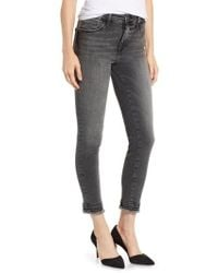 Mavi Jeans - Tess Embroidered Cuff Ankle Jeans - Lyst