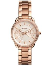 Fossil - Tailor Crystal Multifunction Bracelet Watch - Lyst