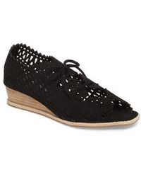 Jeffrey Campbell - Espejo Lace-up Wedge - Lyst