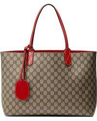 49b5e8748b97 Gucci - Medium Turnaround Reversible Leather Tote - Lyst