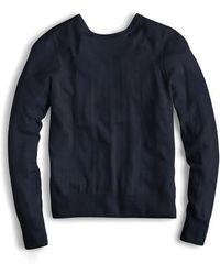 J.Crew - J.crew Reversible Button Back Sweater - Lyst