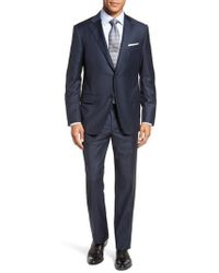 Hickey Freeman - Modern Fit Solid Wool Suit - Lyst