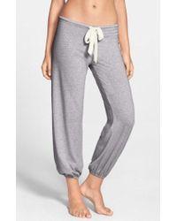 Eberjey - Crop Knit Lounge Pants - Lyst