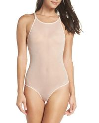 Honeydew Intimates - Layered Mesh Bodysuit - Lyst