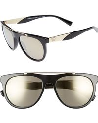 Versace - Medusa 56mm Brow Bar Sunglasses - - Lyst
