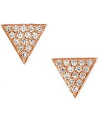 Dana Rebecca - 'emily Sarah' Diamond Pave Triangle Stud Earrings (nordstrom Exclusive) - Lyst