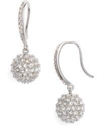 Nordstrom - Pave Sphere Drop Earrings - Lyst