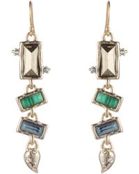 Alexis Bittar - Retro Gold Collection Multi Stone Earrings - Lyst