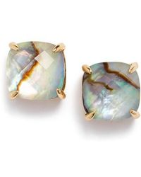Kate Spade - Mini Small Square Semiprecious Stone Stud Earrings - Lyst