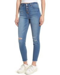 Tinsel - Ripped High Waist Ankle Skinny Jeans - Lyst