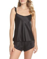 Black Bow - Robyn Satin Short Pajamas - Lyst