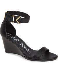 Calvin Klein - Wilhelmina Wedge Sandal - Lyst