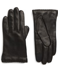 Frye - Nora Whipstitch Lambskin Leather Touchscreen Gloves - Lyst