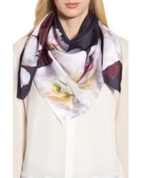 Ted Baker - Gardenia Square Silk Scarf - Lyst