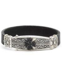 Konstantino | Plato Maltese Cross Leather Bracelet | Lyst