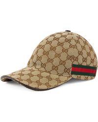 Gucci - Logo Print Baseball Cap - Lyst