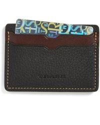 Trask - 'jackson' Norwegian Elk Leather Card Case - Lyst